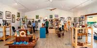 wood, wire, clay, oils, pastels, glass, stone, felt, photography craft works, Atherton Tablelands